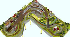 GP3-0150 Märklin C-Gleisplan Kottenforst (300x300cm L-Form) DIN A4-Mappe Color