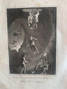1813 Silver Mine, Schemnitz, Slovakia, Hungary Original Antique Print