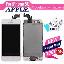 FOR White IPHONE 5 5G LCD TOUCH Screen Digitizer Complete Button Replacement UK