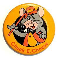 """Chuck E. Cheese * Vintage Pinback Pin Button 3"""" * Combine Shipping!"""
