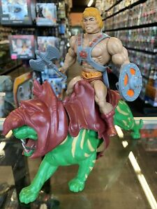 1981 He-man & Battle Cat Masters of the Universe Vintage Lot Mexico Complete 3