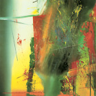 GERHARD RICHTER DG 46 x 46 Poster 1991 Contemporary Green, Yellow, Red, Multicol