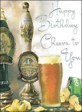 "Jonny Javelin Open Male Birthday Card - Pint Of Beer & Crisp Packet 7.25"" x 5.5"""