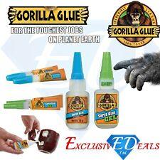 Gorilla Super Glue Full Range: 3g / 2 x 3g / 15g / 15g Gel / 12g Brush & Nozzle