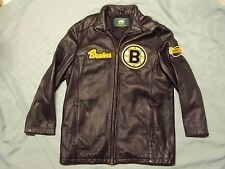 Boston Bruins Leather Jacket Custom Made Adult Size Medium Pre-owned