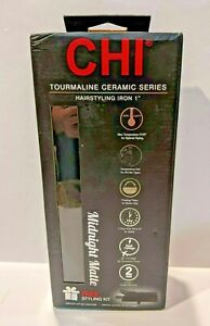 "Chi Tourmaline Ceramic Series 1"" Flat Iron Midnight Matte NEW 0634"