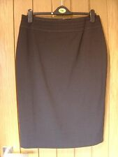 M & S Woman Charcoal Black Straight Lined Skirt Size 14 (Ref P) Ex Con