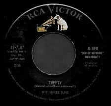 "THE THREE SUNS ""TWEETY/Rainbow"" RCA VICTOR (47-7187) 1958 45rpm SINGLE"