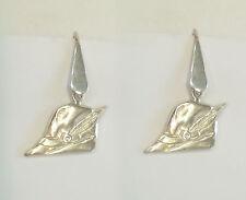Orecchini con il CAPPELLO degli ALPINI in Argento 925 - pendenti con amo -