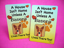 """""""Basenji"""" A House Isn't Home - A Pair Of Dog Lover Cards - Sku# 46"""