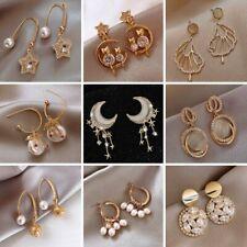 Women Faux Crystal Earrings Gem Dangle Hook Charm Stud Earrings Jewelry Shan