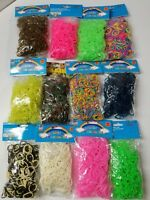 600 Pcs COLORFUL LOOM RUBBER BAND  24 Clips rainbow Colors Craft Bracelet