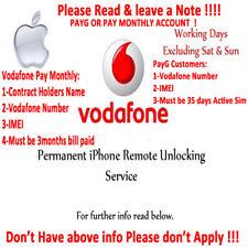 OFFICIAL Unlock Service VODAFONE UK For Apple iPhone 7 Plus 7 6 6 Plus 5S SE 5