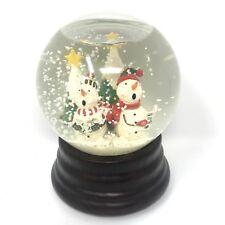 6� Singing Snowman Christmas Carol Tree Musical Water Snow Globe Music Box