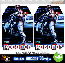 Robocop Arcade Side Artwork Panel Stickers Graphics / Laminated All Sizes