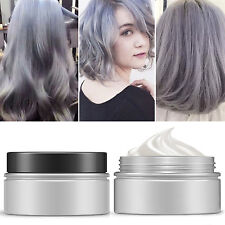 Unisex Temporary Modeling Gray silver DIY Hair Color Wax Mud Dye Cream WOW