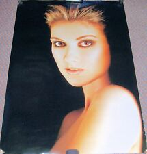 "CELINE DION U.K. RECORD COMPANY PROMO POSTER ""LET'S TALK ABOUT LOVE"" ALBUM 1997"