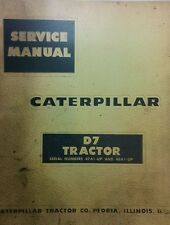 Caterpillar D7 Crawler Tractor Major Overhaul Service Manual 372pg 47A1-<& 48A1<