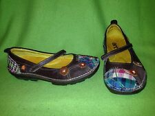 Brown Leather & Patch Quilt The Art Company Flats 8.5 EU40