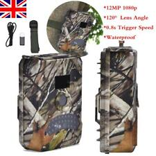 1080p Hunting Camera Trail Scouting Wildlife Night Vision Infrared Waterproof UK