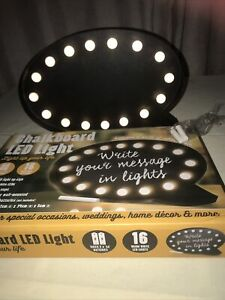 Chalkboard Bubble Cinema LED Box Light Up Message Box Wall Mounted and Standing
