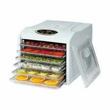 ElectrIQ Food Dehydrator With 6 Large Easy Access Shelves - Intelligent and