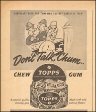 1944 Vintage ad for Topps Gum art cartoon WWII era  (010818)