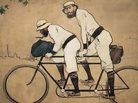 RAMON CASAS PERE ROMEU TANDEM BICYCLE ART PRINT POSTER PICTURE LF839