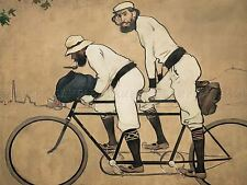 RAMON CASAS PERE ROMEU TANDEM BICYCLE ART PRINT POSTER PICTURE LF839