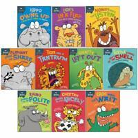 Sue Graves Behaviour Matters Series 10 Books Collection Set Cheetah, Rhino,Croc