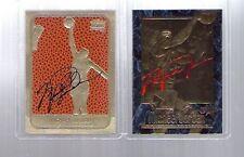 MICHAEL JORDAN 1997 EX-2000 & 1986 ROOKIE 23KT GOLD AUTOGRAPHED 2 CARD LOT!