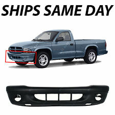 New Primered - Front Bumper Cover for 2001-2004 Dodge Dakota Truck w/ Fog 01-04