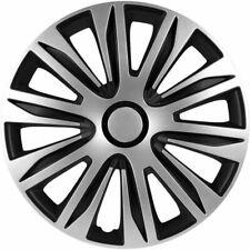 4x Radkappen Radzierblenden 16 Zoll in Schwarz Silber Set für Stahlfelgen 83DP