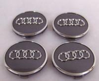 Audi 4 x 61mm Alufelge Nabenkappen Nabendeckel Satz 8W0601170 Silber