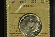 Canada 1952 Half 50 Cent - ICCS - MS-63