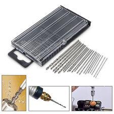 20pcs Precision 0.3-1.6mm Tiny Mini Micro HSS Twist Drill Bit Set Drilling Tool