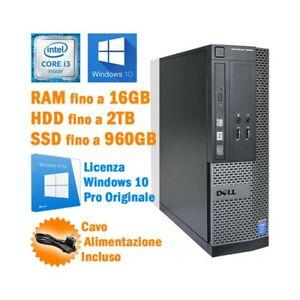 PC COMPUTER DESKTOP FISSO DELL 3020 SFF I3 4130 3.40GHZ CASA UFFICIO W10 PRO.