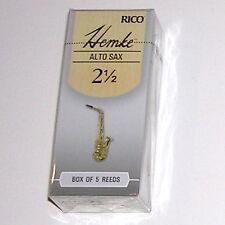 1 Box of 5 Rico Hemke Reeds Alto Sax (Saxophone) Strength 2-1/2(2.5) RHKP5ASX250