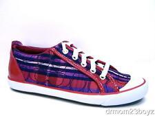 New NIB Coach Barrett Signature Poppy Pink & Purple Plaid Sneaker 8 RARE!