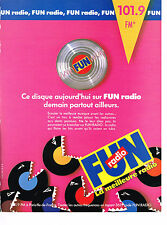 PUBLICITE ADVERTISING 044  1988  FUN  radio  101.9 FM