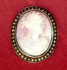 EDWARDIAN CORAL - SILVER - PEARL CAMEO