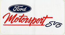 Rare Ford Motorsport SVO Decal M-1820-A2
