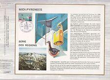 DOCUMENT CEF PREMIER JOUR  1976 MIDI PYRENEES SERIE DES REGIONS