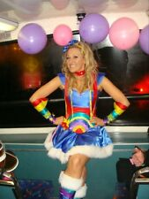 RAINBOW Lady corset costume Bright colours all sizes