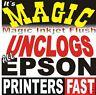 MAGIC INKJET FLUSH KIT for ANY EPSON PRINTER (BY REGISTERED) PRINT HEAD CLEANER