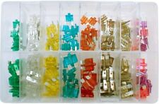 160 X ASSORTED BLOW GLOW LED MINI + STANDARD POPULAR BLADE FUSES 3 - 30AMP AT164