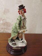 "G. Armani Figure Figurine Statue Sculpture ""Charlie"" Clown Bike, Italy, Rare"