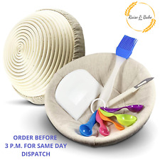 10 inch Round Bread Proofing Proving Basket Rattan Banneton Brotform Dough Kit