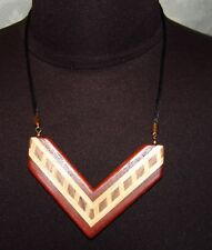 Statement Necklace Wood Wooden Cleopatra