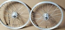 "Old Bmx 36 Spoke Alloy Hi Flanged Wheels 20"" Freestyle Bike Gt Cw Hutch Haro pk"